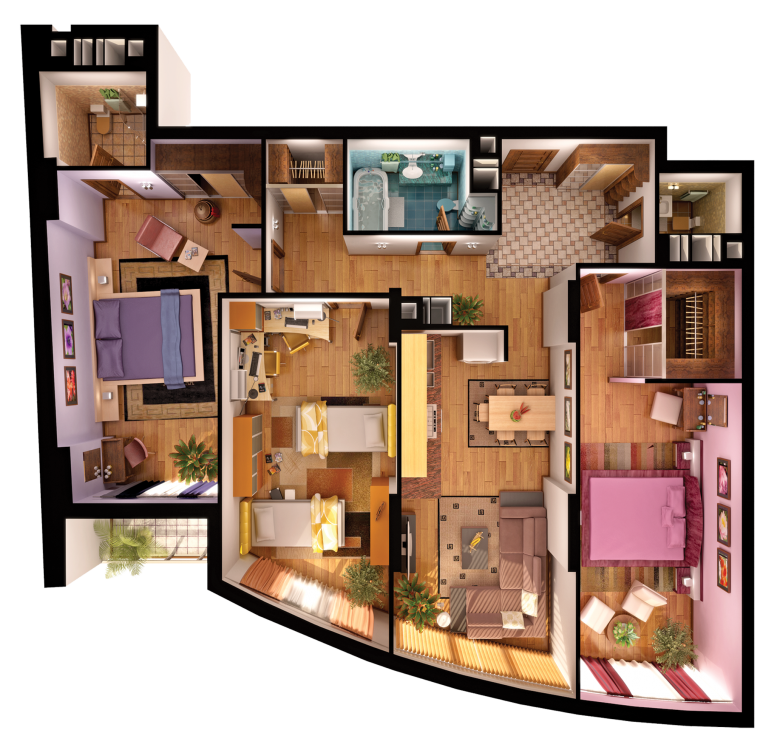 Планировка 3 комнатной квартиры фото